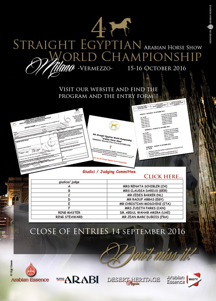 4th Straight Egyptian World Championship. Milano-Vermezzo.